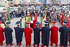 Banda tradizionale dell'esercito dell'ottomano Immagini Stock Libere da Diritti