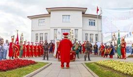 Banda tradizionale dell'esercito dell'ottomano Immagini Stock