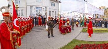 Banda tradizionale dell'esercito dell'ottomano Fotografia Stock Libera da Diritti