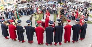 Banda tradizionale dell'esercito dell'ottomano Fotografie Stock