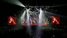 banda Un-ha che gioca di concerto Fotografia Stock Libera da Diritti