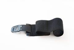 Bandage élastique noir avec l'agrafe Images libres de droits