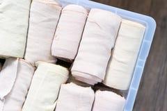 Bandage élastique pour l'usage dans l'hôpital Photo stock