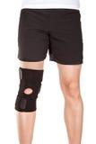 Bandage. Athlete wearing an elastic bandage Royalty Free Stock Photography