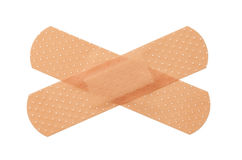 Bandage. S criss crossing isolated on a white background royalty free stock images
