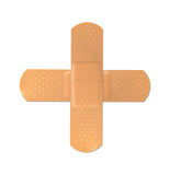 Bandage. Two adhesive plaster / patches forming a cross Stock Photography