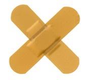 Bandage adhésif en travers Image stock