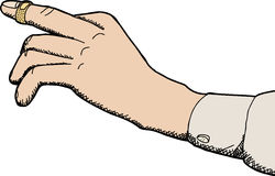 Bandage adhésif sur le doigt Images stock