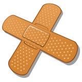 Bandage adhésif sur un fond blanc Vecteur Images libres de droits