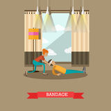 Bandage concept vector illustration in flat style Stock Photography