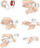 Bandage de main Images libres de droits