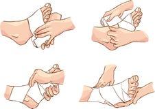 Bandage de pied Images libres de droits
