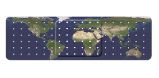 Bandage with Earth Map Stock Photography
