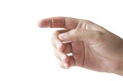 Bandage on finger Royalty Free Stock Photos