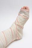 Bandage foot Stock Images