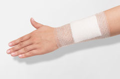 Bandage on the forearm Royalty Free Stock Photo
