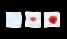 Bandage gauze with blood on background Royalty Free Stock Photography