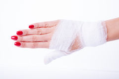 Bandage on a hand Royalty Free Stock Images