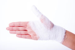 Bandage on a hand Royalty Free Stock Photo