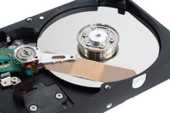 Bandage on a Hard Disk Drive Closeup Royalty Free Stock Photo