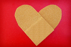 Bandage heart Royalty Free Stock Photos