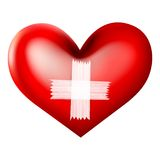 Bandage on Heart Stock Photo