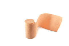 Bandage for joint pain relief Stock Photo