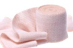 Bandage Macro Isolated. Isolated macro image a first aid bandage Stock Images