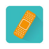 Bandage medical isolated icon. Vector illustration design royalty free illustration
