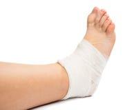 Bandage On The Leg Royalty Free Stock Photography