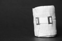 Bandage. Still life shot of a bandage with copy space to the left - focus is on the elastic band Royalty Free Stock Photos