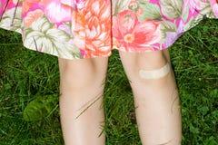 Bandage sur des blessures Photographie stock