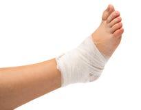 Bandage sur la jambe Photo libre de droits