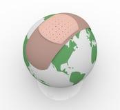 Bandage sur terre de planète Photographie stock libre de droits