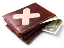 Bandage for wallet Stock Photos