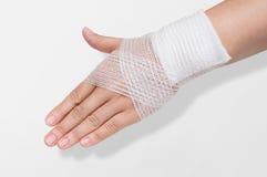 Bandage on the wrist royalty free stock photos