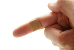Bandaged finger Royalty Free Stock Image