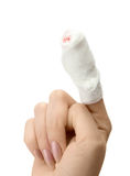 Bandaged finger Royalty Free Stock Photography