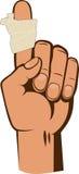 Bandaged finger Royalty Free Stock Images