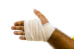 Bandaged hand Royalty Free Stock Photos