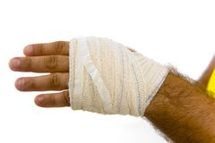 Bandaged hand Royalty Free Stock Image