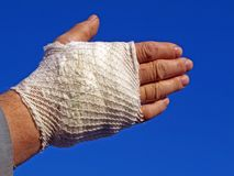 Bandaged hand Stock Photos