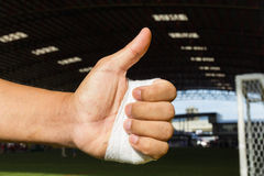 Bandaged hand Royalty Free Stock Photography