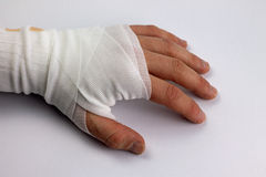 Bandaged Hand Royalty Free Stock Photo
