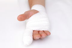 Bandaged hand Stock Photography