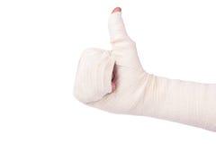 Bandaged hand Royalty Free Stock Photography