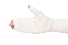Bandaged hand Stock Photos