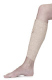 Bandaged leg with elastic bandage Royalty Free Stock Photo
