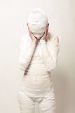Bandaged mummy Stock Photo