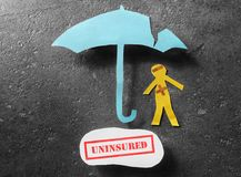 Uninsured person concept Royalty Free Stock Image